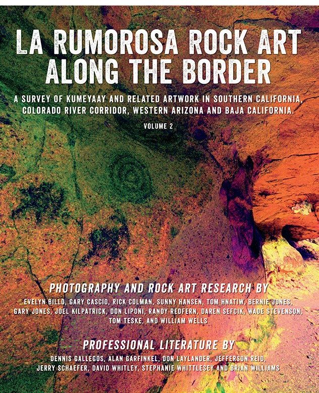"Cover art for the book ""La Rumarosa: Rock Art Along the Border"""
