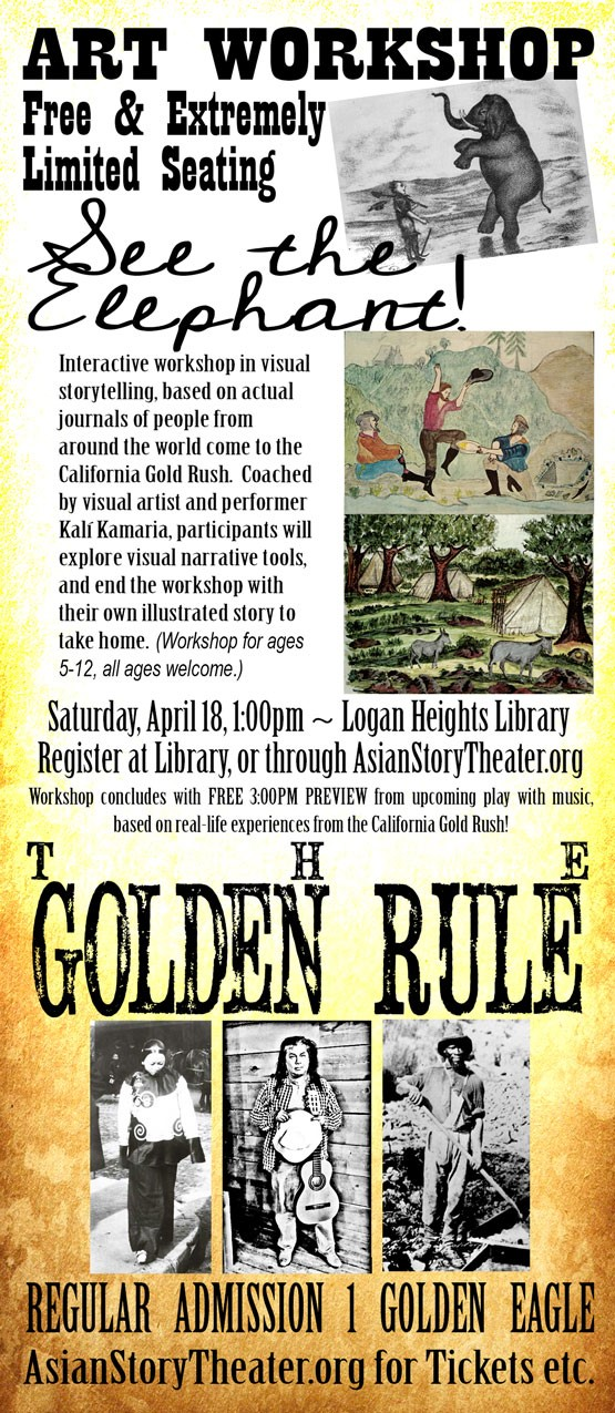 Flyer for workshop with Gold Rush pictures