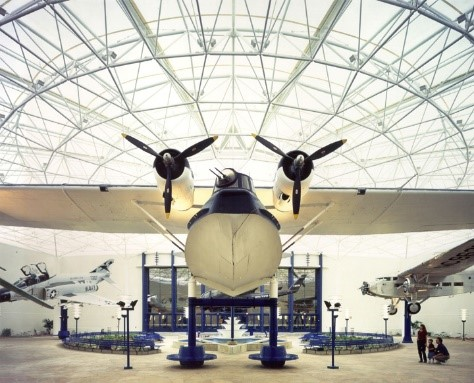 Airplane in a hangar