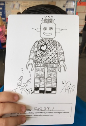 image of hand drawn robot