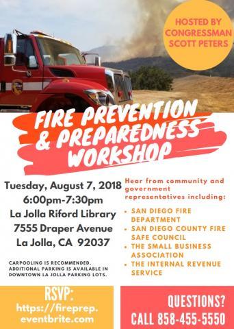Fire Prevention and Preparedness Workshop with Congressman