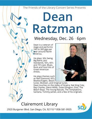 Dean Ratzman - Friends Free Concert Series | San Diego